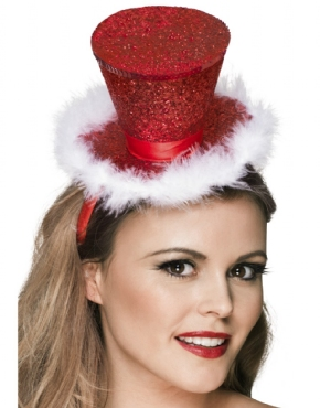 Fever Mini Top Hat with Marabou