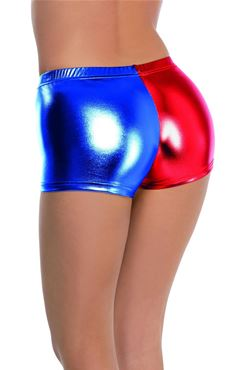Fever Miss Harlequin Whiplash Shorts - Side View