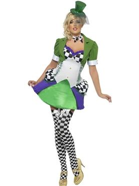 Adult Fever Miss Hatter Costume