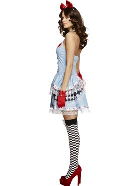 Adult Fever Miss Alice Costume - Back View