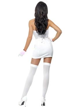 Adult Fever Nurse Dazzle Costume - Back View