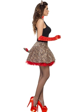 Adult Fever Party Glam Pussy Costume - Back View