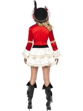 Adult Fever Plentiful Pirate Costume - Back View