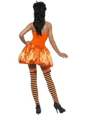 Adult Fever Pumpkin Costume - Back View