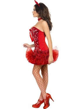 Adult Fever Red Devil Costume - Back View