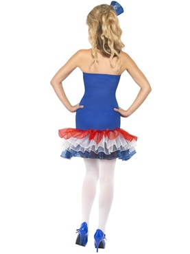 Adult Fever Rule Britannia Union Jack Costume - Back View