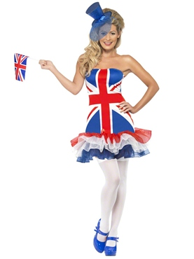Adult Fever Rule Britannia Union Jack Costume