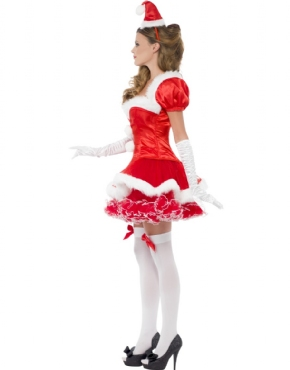 Adult Fever Santa Costume - Back View