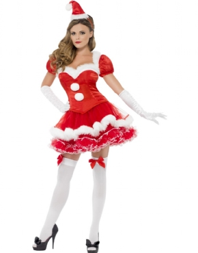 Adult Fever Santa Costume Thumbnail