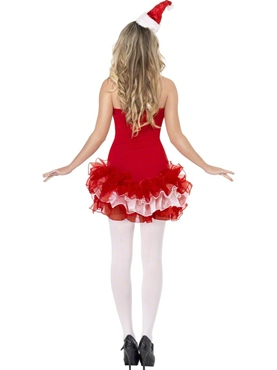 Adult Fever Santa TuTu Costume - Side View