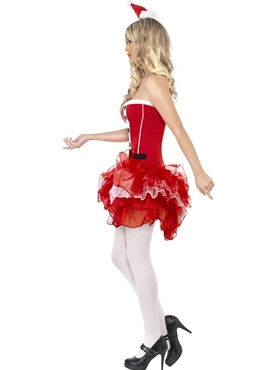 Adult Fever Santa TuTu Costume - Back View