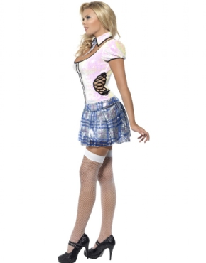 Adult Fever School Girl Bling Costume - Back View