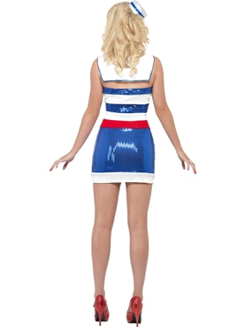 Adult Fever Sequin Sailor Costume - Side View