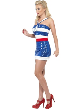 Adult Fever Sequin Sailor Costume - Back View