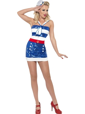 Adult Fever Sequin Sailor Costume
