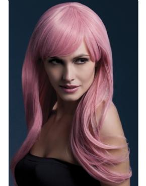 Adult Fever Sienna Pastel Pink Wig
