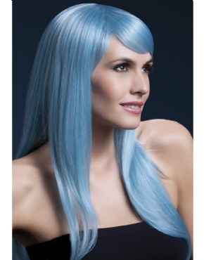 Adult Fever Sienna Pastel Blue Wig