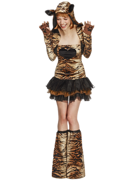Adult Fever Tiger Costume Couples Costume