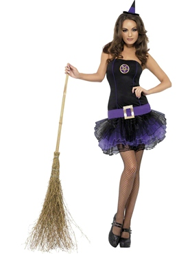 Adult Fever Tutu Witch Costume - Side View