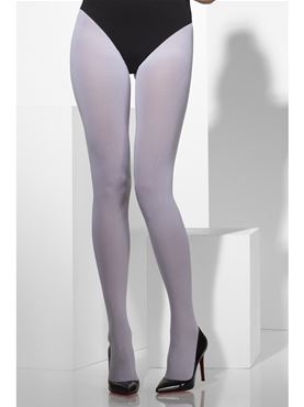 Fever White Opaque Tights - Side View