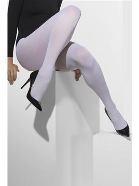 Fever White Opaque Tights - Back View