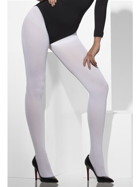 Fever White Opaque Tights