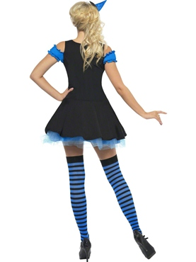 Adult Fever Wicked Witch Blue Costume - Side View