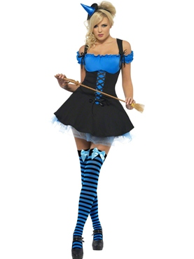 Adult Fever Wicked Witch Blue Costume
