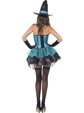 Adult Fever Witch Devine Costume - Side View
