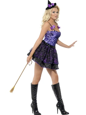 Adult Fever Witch Glimmer Costume - Side View