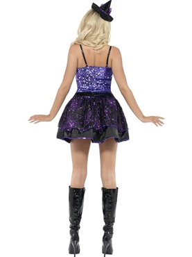 Adult Fever Witch Glimmer Costume - Back View