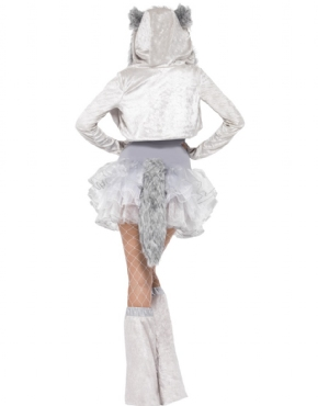 Adult Fever Wolf Costume - Back View