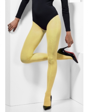 Fever Yellow Opaque Tights - Side View