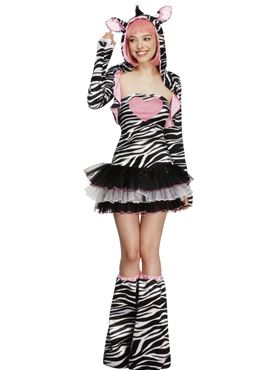 Adult Fever Zebra Costume Couples Costume