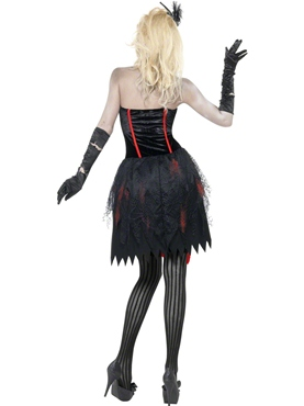 Adult Fever Zombie Burlesque Costume - Side View
