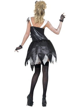 Adult Fever Zombie French Maid Costume - Side View