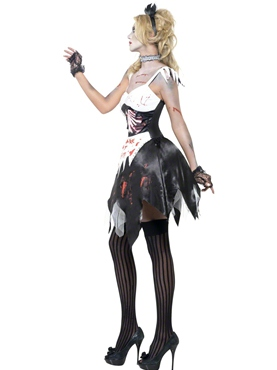 Adult Fever Zombie French Maid Costume - Back View