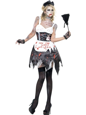 Adult Fever Zombie French Maid Costume