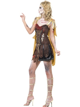 Adult Fever Zombie Gladiator Costume - Back View