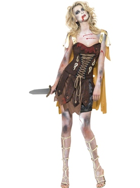 Adult Fever Zombie Gladiator Costume Couples Costume