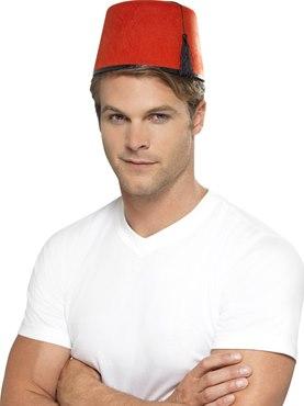 Fez Hat Red Felt