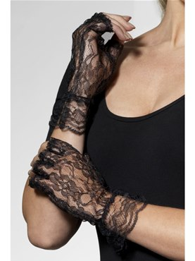 Fingerless Gloves Black Lace