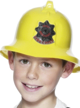 Firemans Hat Yellow Plastic