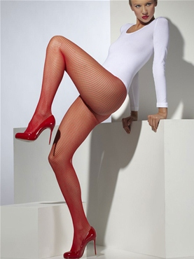 Fishnet Tights Red