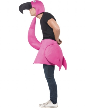Adult Flamingo Costume - Back View