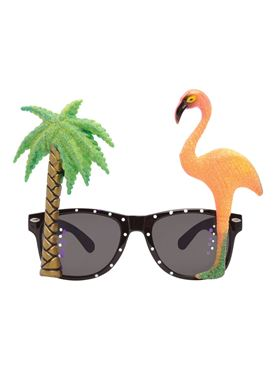 Flamingo Palm Tree Glasses