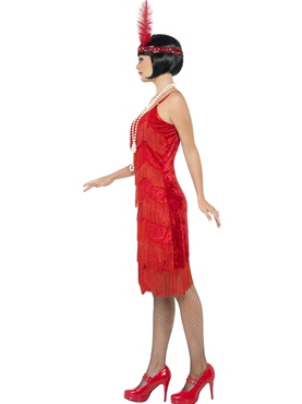 Adult Flapper Shimmy Costume - Back View