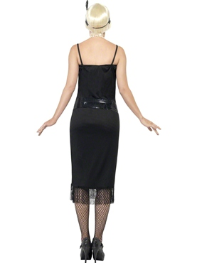 Adult Flappers Dress Black - Side View