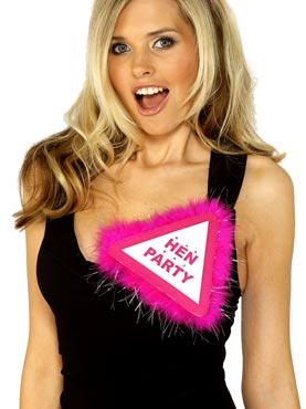 Flashing Hen Party Badge Pink