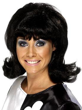 Flick Up 60s Lady Wig Black